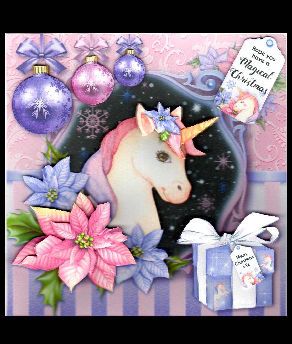 Christmas Unicorn.Unicorn Christmas Card
